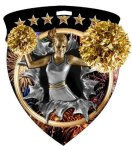 Cheerleader Medal Color Shield Medal Awards