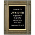 Deep Groove Solid Walnut Plaque Employee Awards
