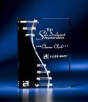 Wave Crevice Acrylic Award with Black Accent Employee Awards