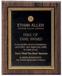 Walnut Hardwood Bevel Edge Plaques Employee Awards