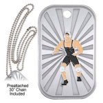 Wrestling Dog Tag GL Series Dog Tags