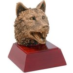 Wolf Resin Mascot Resin Trophy Awards