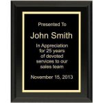 Ultra Gloss Black Plaque Sales Awards