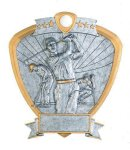 Signature Series Golf Shield Award Signature Shield Resin Trophy Awards