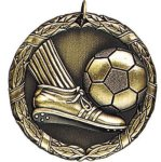 Soccer with Foot Soccer Trophy Awards